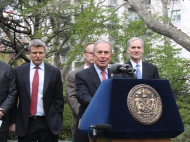 "Mayor Bloomberg called the senate's failure to pass stricter gun legislation ""a disgrace."""