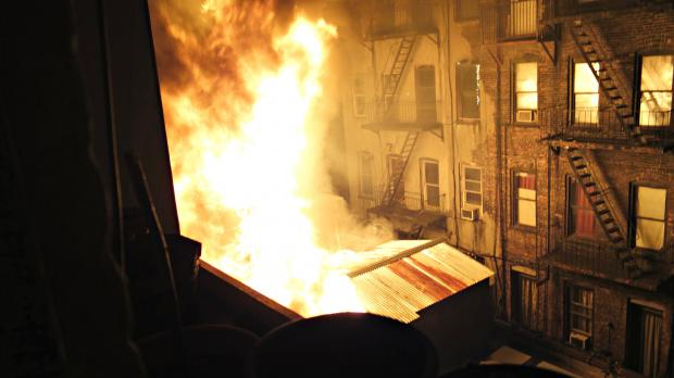 A two-alarm fire engulfed the East 4th Street Korean restaurant on Sunday, April 21, 2013.
