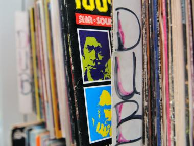 Moodies Records has thousands of albums in their modestly sized Bronx store.