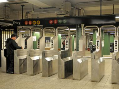 A paramedic was arrested after an altercation with a police officer near the Atlantic-Pacific subway station in Brooklyn Monday morning, April 1, 2013.