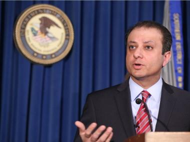 U.S. Attorney Preet Bharara released a report on the conditions in Rikers Island jail adolescent facilities on August 4, 2014. Bharara is seen here announcing the arrest of Bronx Assemblyman Eric Stevenson, April 4, 2013.