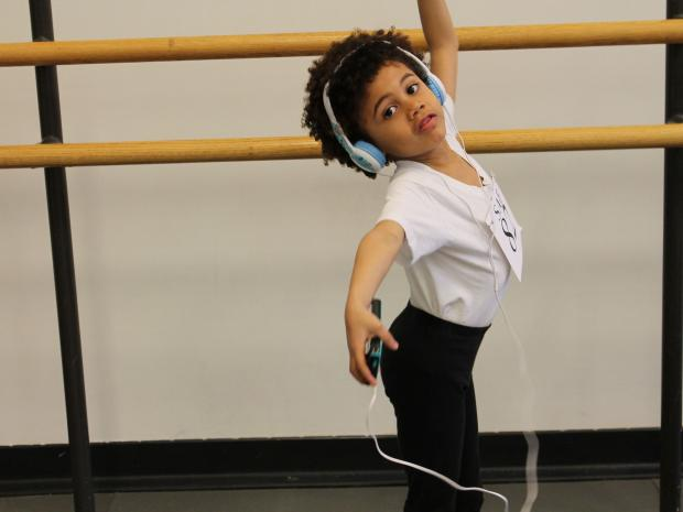 More than 100 children showed off their flexibility and rhythm in hopes of a place at the school.