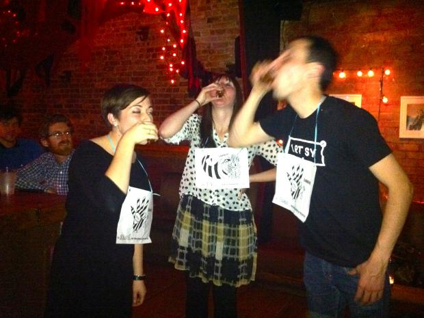 The Slurring Bee Tournament at Last Exit Bar in Brooklyn Heights tests the spelling skills of contenders in the inebriated state.