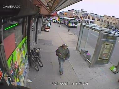 Cops say the suspect punched a man and stole his iPhone at the 163rd Street C train station.