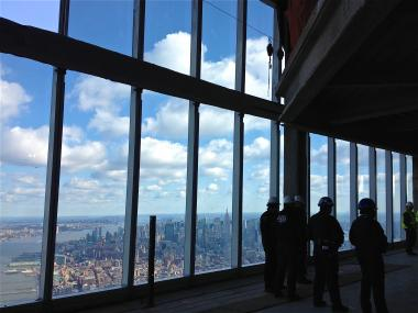 The observation deck will offer views from 100 floors up, as well as an educational and entertainment experience. The 3-story deck is slated to be ready in 2015.