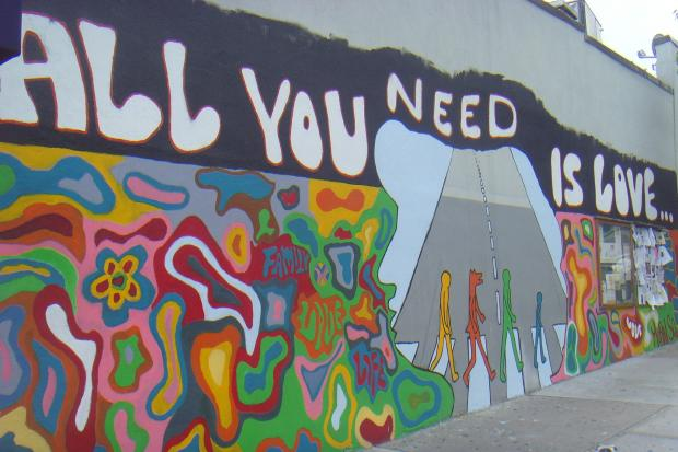 Community members are giving two thumbs down after a beloved mural was painted over for during filming.