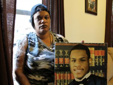 Two Bronx men were arrested for the murder of Bronx teen Alphonza Bryant, see here in a photo with his mother.