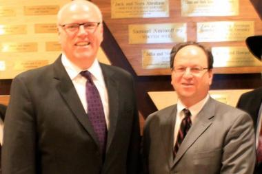 Barry Grodenchik (right) with Congressman Joseph Crowley at his campaign kickoff in January