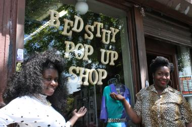 Colleen Wadley and Ose Ogbemudia run the Bed-Stuy Pop Up Shop, which is moving to 351 Tompkins Ave. from 275 Malcolm X Blvd.