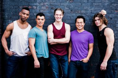 Six of the most-admired men on Broadway will compete in a male beauty pageant on NYU's campus Monday, May 20, 2013.