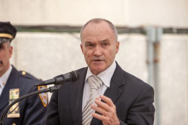 Police Commissioner Ray Kelly, shown here at the 100th Precinct on Wednesday, May 22, 2013, may be out the door as the city's top cop, insiders tell DNAinfo New York.