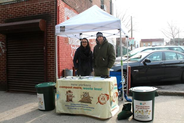 Commuters can now drop their food scraps off the Vernon Blvd. 7 Train and Greenpoint G Train Stations.