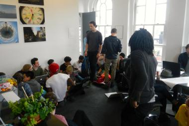 About 50 students from Cooper Union were occupying the office of school president Jamshed Bharucha.
