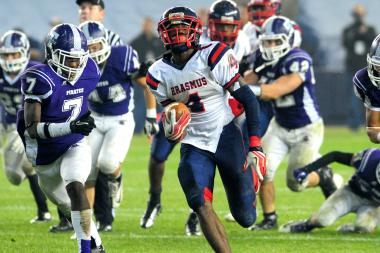Curtis Samuel rushed for 1,047 yards and had 18 touchdowns to lead Erasmus Hall to the PSAL Championship Division title.