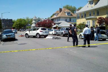 Officials said a cyclist was struck and killed at Benson Avenue and Bay 26th Street on May 27, 2013.
