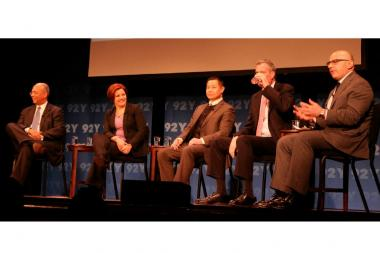 Democrat mayoral candidates debate the issues at a mayoral forum at the 92Y, 1395 Lexington Ave., on March 21, 2013.