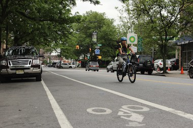 If approved by CB12, the DOT will install new bike lanes in Washington Heights and Fort George this summer.
