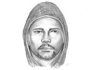 Police are searching for the man depicted in this sketch, who allegedly sexually assaulted a 21-year-old woman in an East Harlem apartment building early Monday, April 29, 2013, the NYPD says.