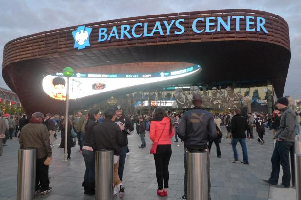 "Visitors to the new Brooklyn arena have noticed a distinctive ""cologne-y"" odor."