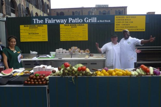 A outdoor waterfront patio and grill will be open every weekend this summer at Red Hook's Fairway.