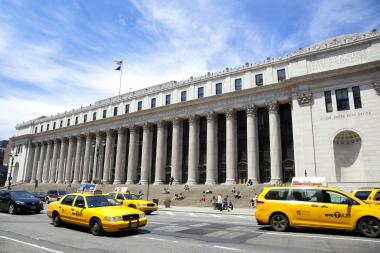 The James A. Farley Post Office will be the home of a play exploring the history of Manhattan starting in June.