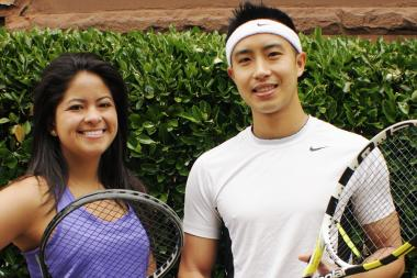 Roland Chang and Gabriela Ospina organize the Fort Greene Tennis Ladder.