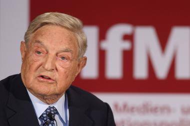 Billionaire investor George Soros speaks on 'The Tragedy of the European Union' as a guest of The Institute for Media and Communications Policy on Sept. 10, 2012, in Berlin. Soros is among the clients recruited by SilverChair Partners founder Chantal Russell.