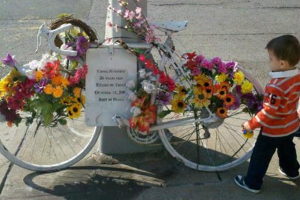 Craig Murphey's bike memorialized the rider who died at age 26 on Union Avenue.