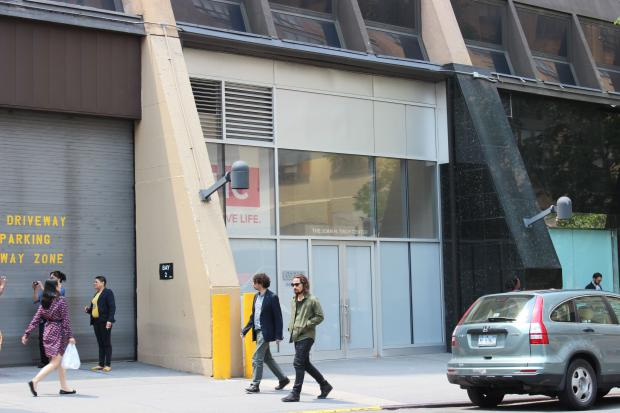 "The civil rights lawyer said GMHC's separate entrance was ""troubling."""