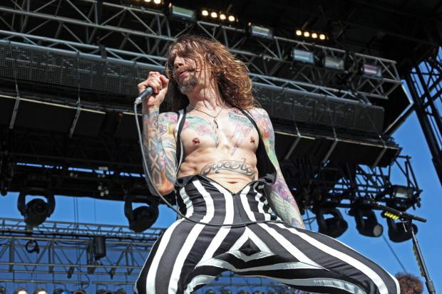 The Darkness plays at the Great GoogaMooga festival in Prospect Park, May 17, 2013.