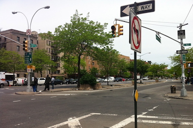 A 13-year-old girl was struck by a car at East 167th Street and Grand Concourse on May 17, 2013, authorities said.