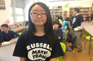 Jena Yun from Queens is the only female student and the only public school student on the New York State Mathcounts team.