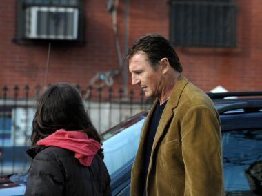 "Scenes from Liam Neeson's new movie, ""A Walk Among the Tombstones,"" were shot in Washington Heights."
