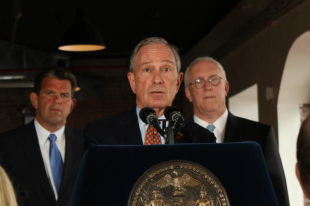 Mayor Michael Bloomberg made the announcement at the Liberty Warehouse at 260 Conover St., May 28.