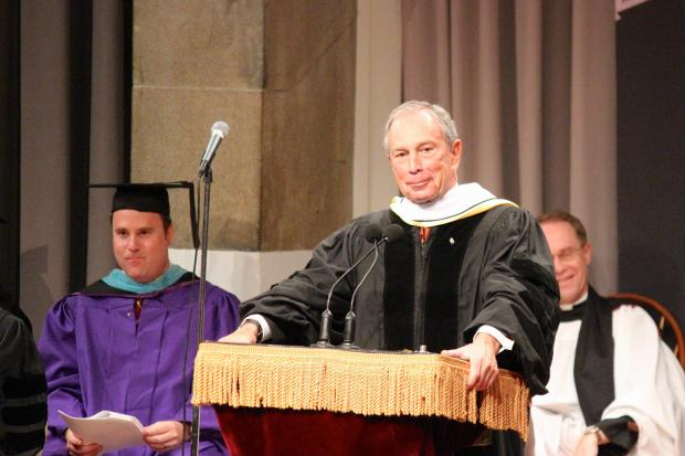 Mayor Michael Bloomberg gave the commencement speech to Cooper Union's graduating students.