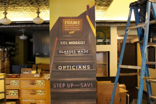 Moscot has moved its historical furniture and decor to its new store location at 108 Orchard Street.