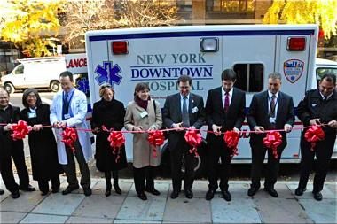 More than 40 paramedics and EMTS were layed off from New York Downtown Hospital last week.