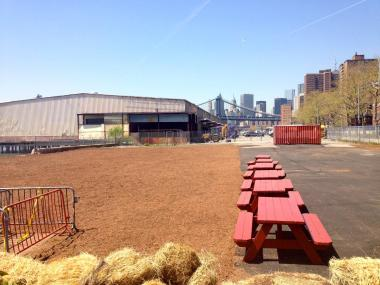 The temporary park will open Saturday with a community day and activities.