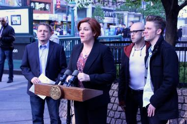 City Council Speaker Christine Quinn appealed to the public to catch the alleged attackers.