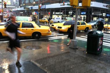 Up to half an inch of rain is expected across the city Wednesday, according to the National Weather Service.