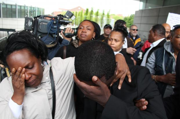 A Bronx judge dismissed the indictment against NYPD officer Richard Haste on May 15, 2013. Haste was charged with manslaughter for fatally shooting unarmed Bronx teen Ramarley Graham in his own home last year. Justice Steven L. Barrett said the Bronx District Attorney's office improperly instructed the grand jury.