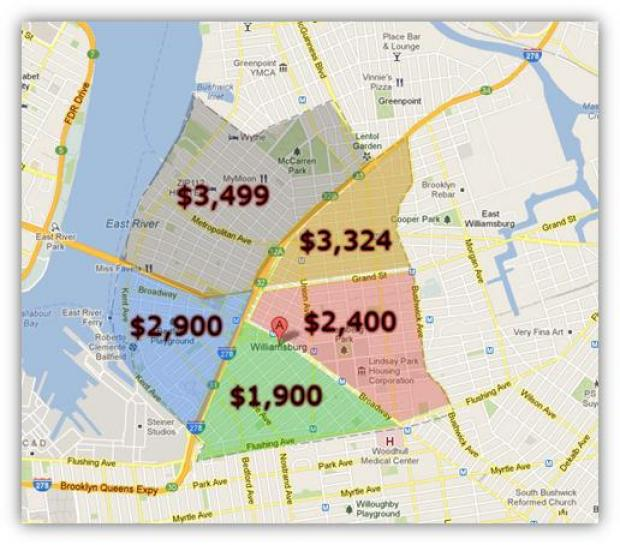 A Map By Mns Real Estate Shows Extreme Price Discrepancies In Different Parts Of The Neighborhood