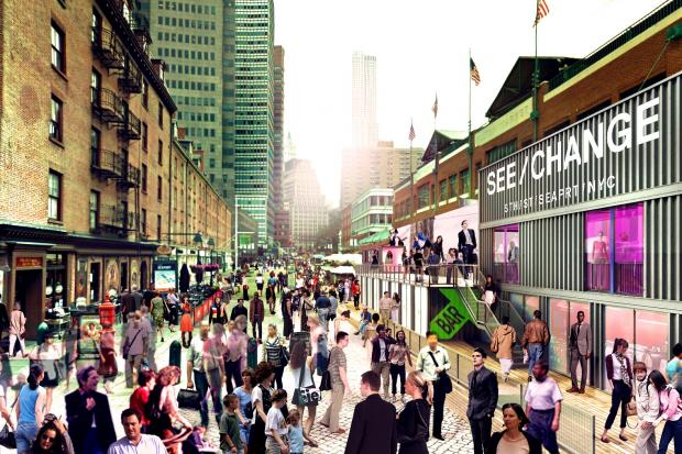 New pop-up stores, food shops, movies and music shows are coming to the Seaport