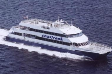 The Rockaway ferry, operated by Seastreak, will continue to ride weekdays through Labor Day weekend.