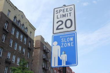 The Hudson Heights slow zone will be implemented in 2016, the DOT announced.