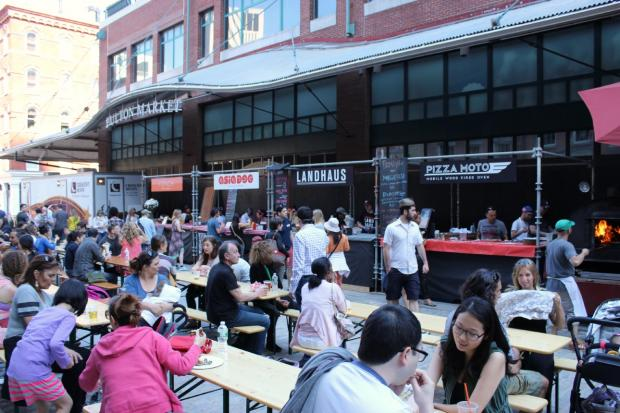 The outdoor food court and beer garden, curated by Brooklyn Flea, will run daily through the summer.