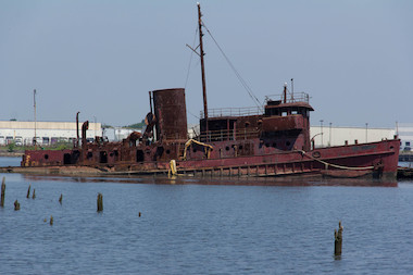 The Staten Island boat graveyard houses dozens of decommissioned boats, and can be a popular tourist spot for adventurous photographers.