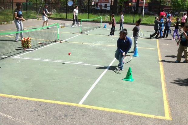 The Kings County Tennis League started up again on Saturday in four different Bed-Stuy public housing complexes.