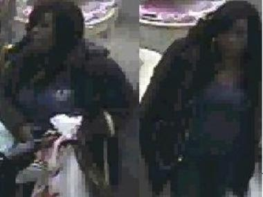 Police say this woman stole four purses and then made illegal purchases with credit cards over a 10-day span.