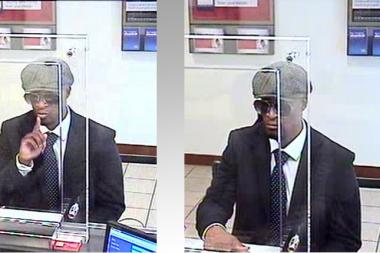 The suspect tried to rob a Bank of America on Wednesday May 16, 2013, cops said.